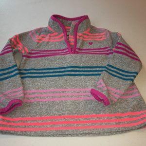 OshKosh B'gosh, stripe fleece,  with 1/4 zip